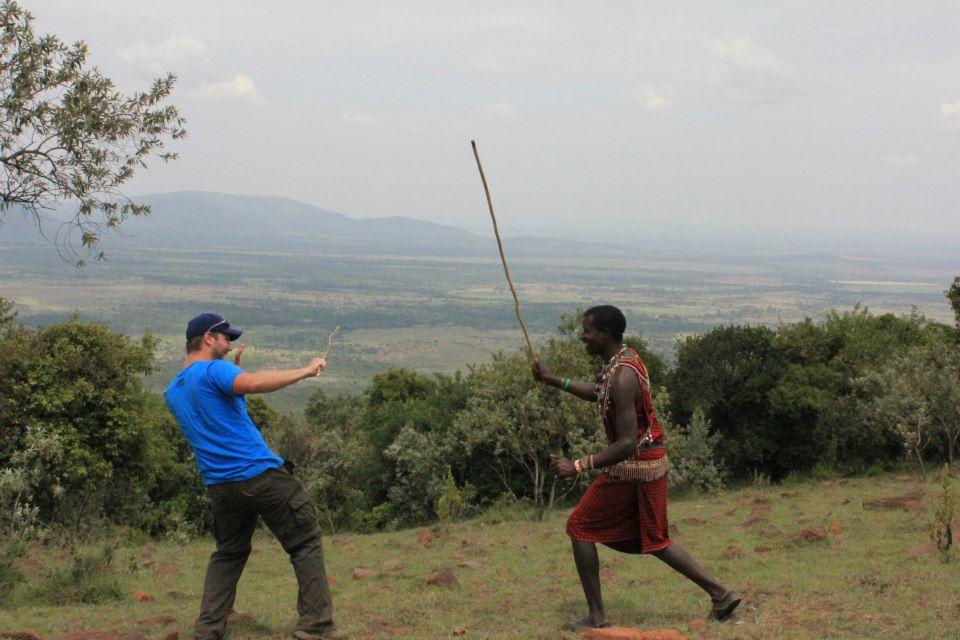 stick fight with Jono