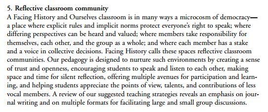 reflective classroom community