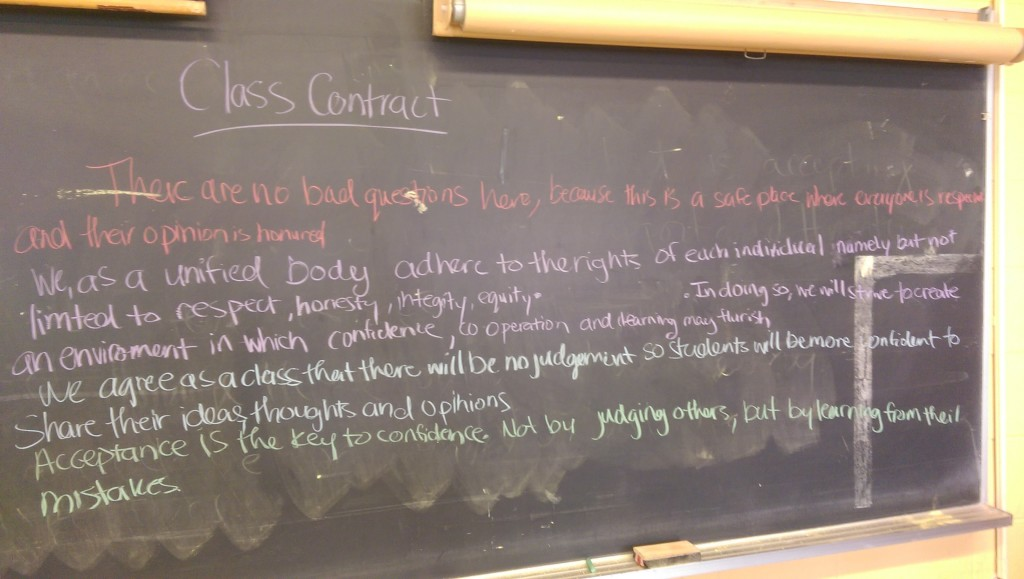Recorded contract for one of my Grade 10 History classes