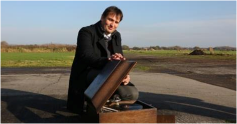 Dr Pinto and his 1930s gramophone