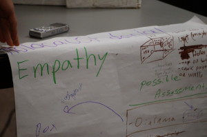 Students' and teachers' co-authored curriculum plan for diorama exploring empathy and Holocaust denial